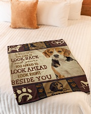 "beagle beside you Small Fleece Blanket - 30"" x 40"" aos-coral-fleece-blanket-30x40-lifestyle-front-01"
