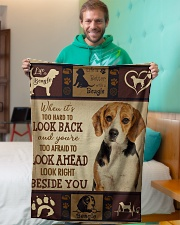 "beagle beside you Small Fleece Blanket - 30"" x 40"" aos-coral-fleece-blanket-30x40-lifestyle-front-09"
