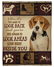 "beagle beside you Small Fleece Blanket - 30"" x 40"" front"