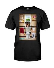 Rottweiler Toilet Classic T-Shirt thumbnail