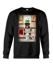 Rottweiler Toilet Crewneck Sweatshirt thumbnail