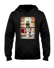 Rottweiler Toilet Hooded Sweatshirt thumbnail