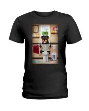 Rottweiler Toilet Ladies T-Shirt thumbnail