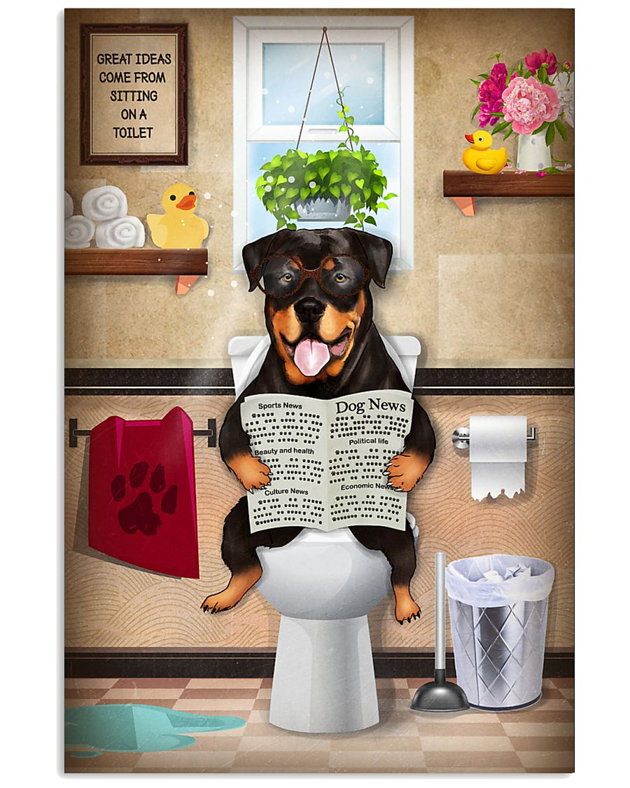 Rottweiler Toilet 11x17 Poster