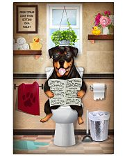 Rottweiler Toilet 11x17 Poster front