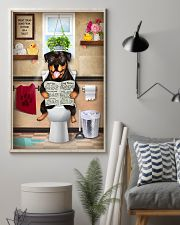 Rottweiler Toilet 11x17 Poster lifestyle-poster-1
