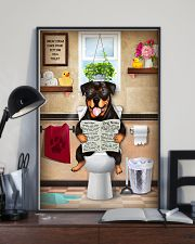 Rottweiler Toilet 11x17 Poster lifestyle-poster-2