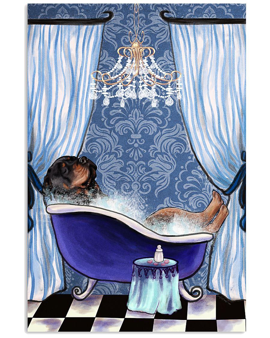 Rottweiler Bathtub  11x17 Poster