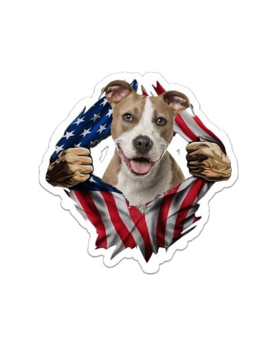 Pitbull Flag America
