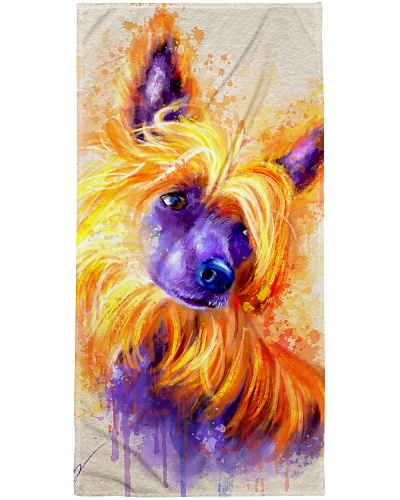 Chinese Crested Bath Towel