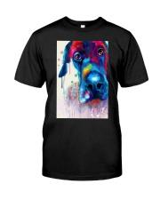 Great Dane Face Art Flow Y10 Classic T-Shirt thumbnail
