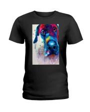 Great Dane Face Art Flow Y10 Ladies T-Shirt thumbnail