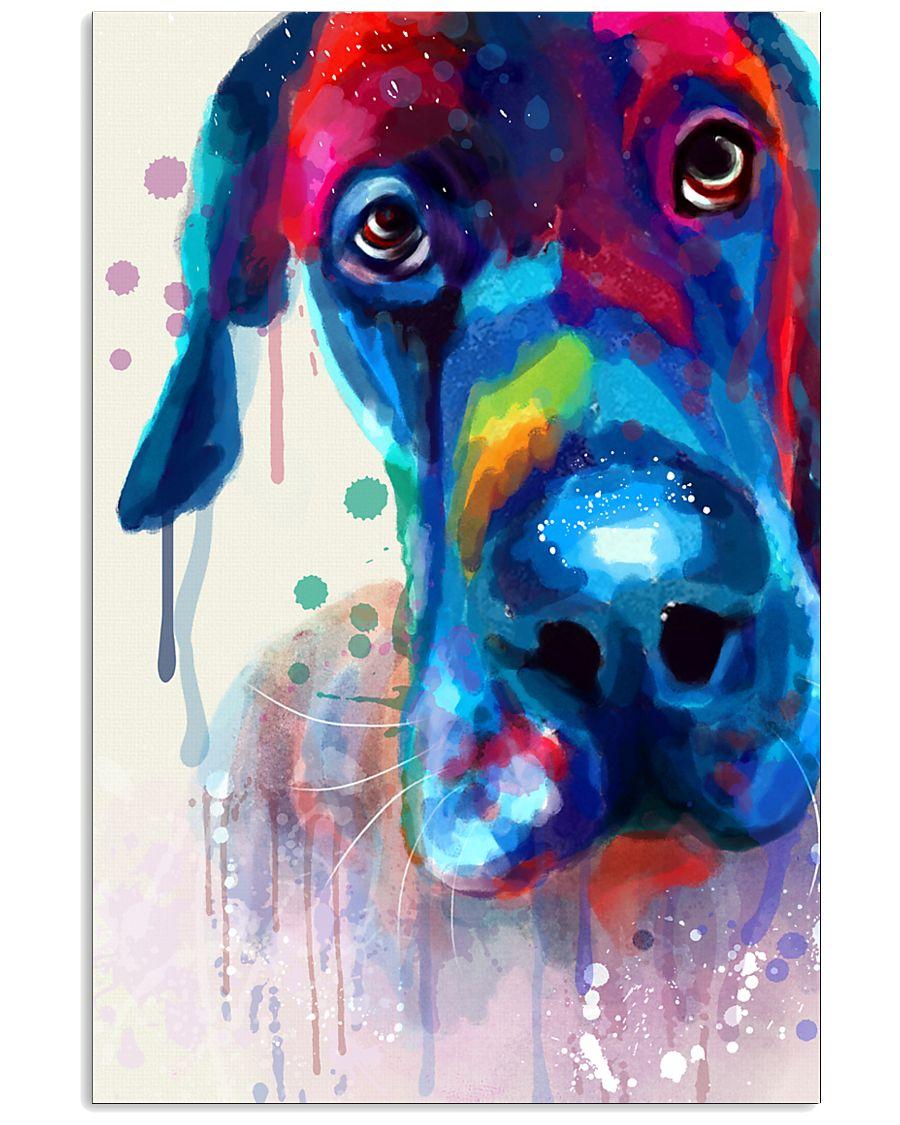 Great Dane Face Art Flow Y10 11x17 Poster