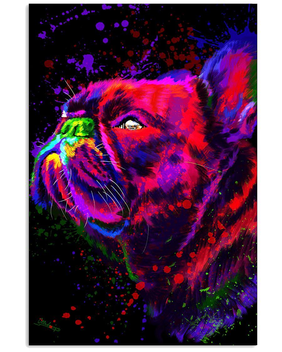 French bulldog Water Color Art Splash M10 11x17 Poster