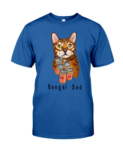 Bengal Cat beer dad white
