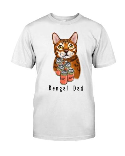 Bengal Cat beer dad white