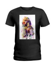 Cocker Spaniel Poster Flow Art V1 Ladies T-Shirt thumbnail