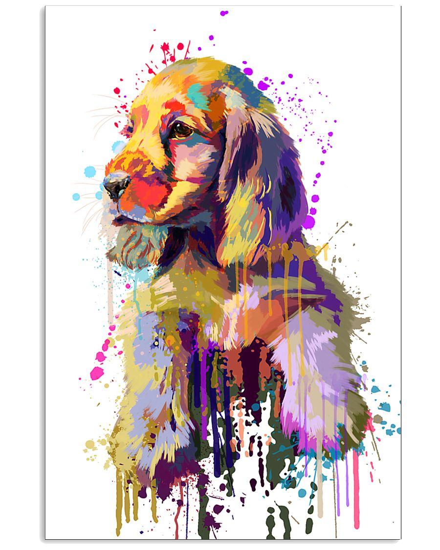 Cocker Spaniel Poster Flow Art V1 11x17 Poster