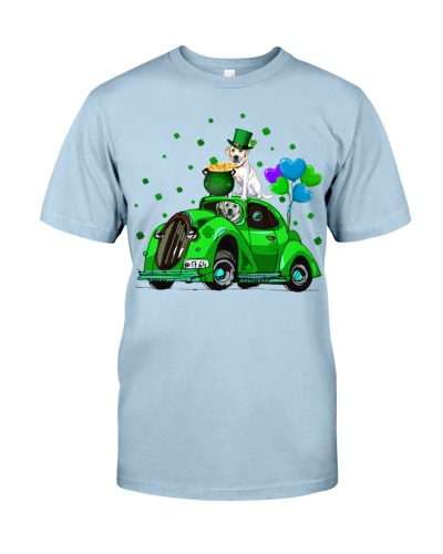 Labrador Car Patrick Day