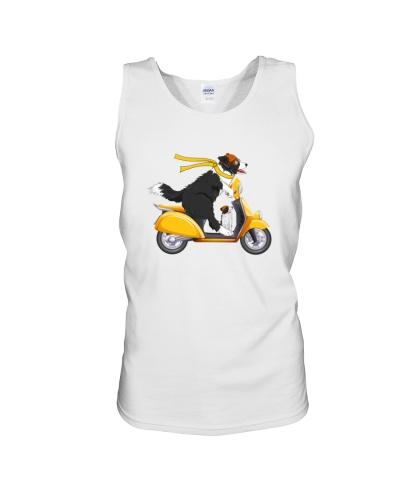 Border Collie Motorbike