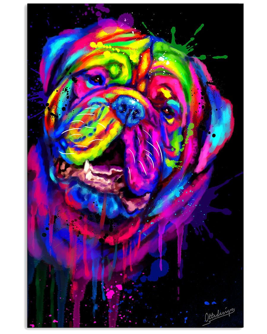 Dogue Water Color Art X10 11x17 Poster