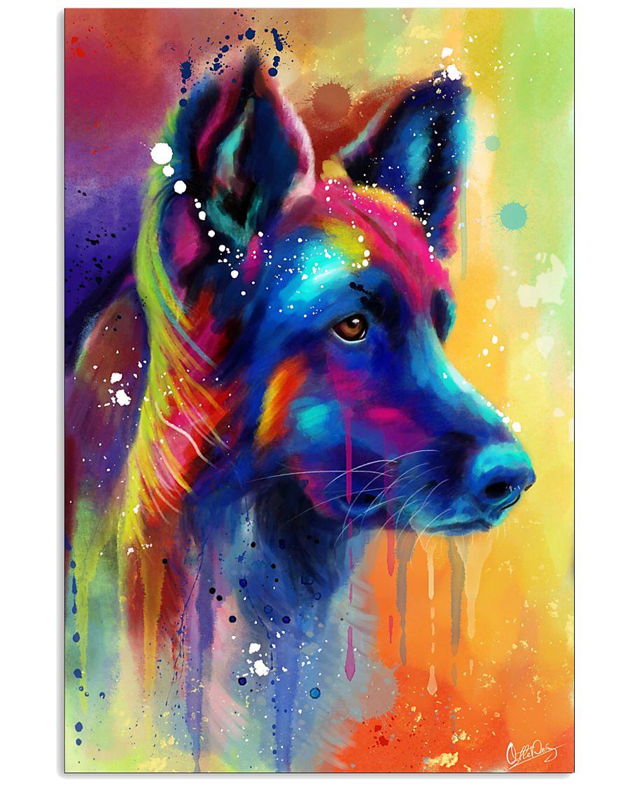 German Shepherd Water Color Art Flow A50 11x17 Poster