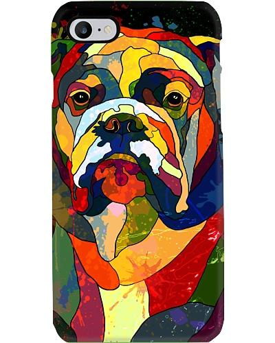 Bulldog Water Color Phone Case
