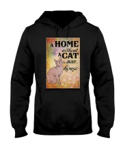 HOME WITHOUT CAT IS JUST A HOUSE Hooded Sweatshirt thumbnail