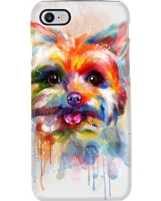 Yorkie Poster Colorful Painting  Phone Case thumbnail