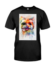 Yorkie Poster Colorful Painting  Classic T-Shirt thumbnail