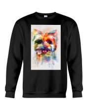 Yorkie Poster Colorful Painting  Crewneck Sweatshirt thumbnail