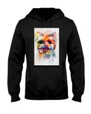 Yorkie Poster Colorful Painting  Hooded Sweatshirt thumbnail