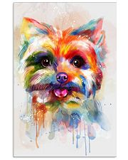 Yorkie Poster Colorful Painting  11x17 Poster front