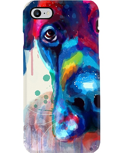 Great Dane Water Color Phone Cáe