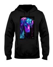 Doberman Water Color Hooded Sweatshirt thumbnail