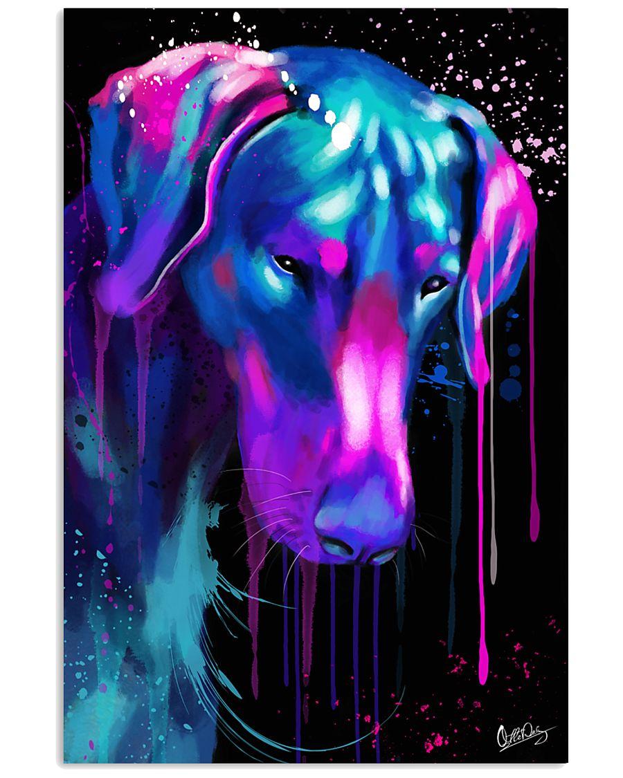 Doberman Water Color 16x24 Poster