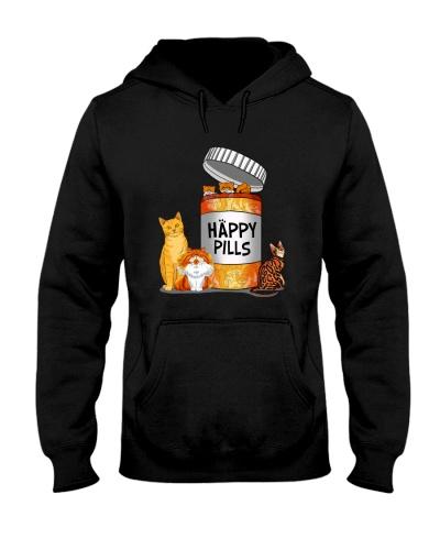 Cat Next to Happy Pills