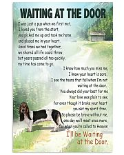 Basset Hound waiting at the door Vertical Poster tile