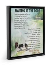 Basset Hound waiting at the door 11x14 Black Floating Framed Canvas Prints thumbnail