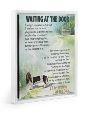 Basset Hound waiting at the door 11x14 White Floating Framed Canvas Prints thumbnail