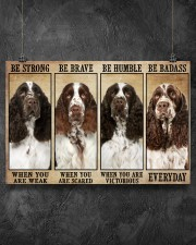 English Springer Be Strong 36x24 Poster aos-poster-landscape-36x24-lifestyle-11