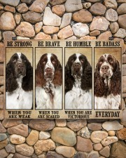 English Springer Be Strong 36x24 Poster aos-poster-landscape-36x24-lifestyle-14