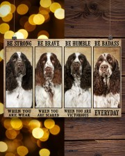 English Springer Be Strong 36x24 Poster aos-poster-landscape-36x24-lifestyle-26