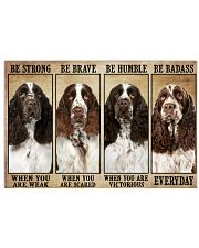 English Springer Be Strong 36x24 Poster front