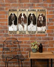 English Springer Be Strong 36x24 Poster poster-landscape-36x24-lifestyle-20