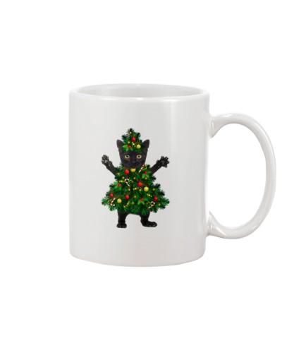 cat noel tree