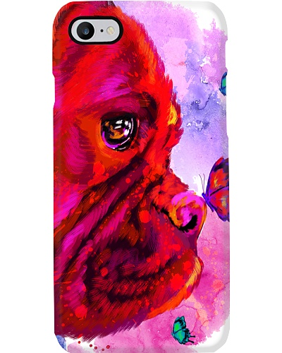 Boxer Buterfly Water Color Phone Case