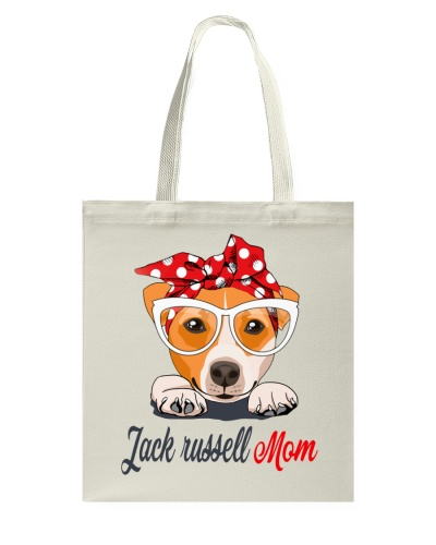 FUNNY JACK RUSSELL MOM GRAY SHIRT