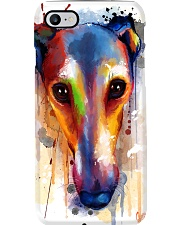 Greyhound Face Art Flow  Phone Case thumbnail