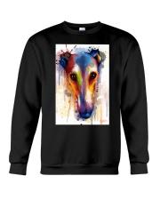 Greyhound Face Art Flow  Crewneck Sweatshirt thumbnail